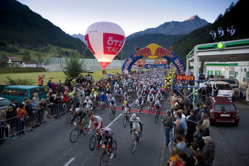 Zieleinlauf beim Ötztaler Radmarathon
