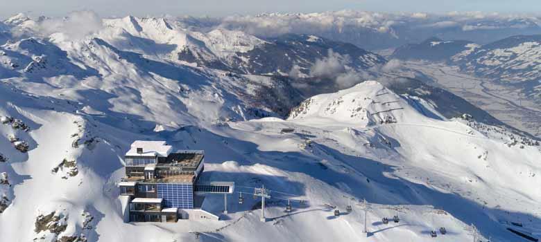 Blick auf die Bergstation des neuen Wimbachexpress