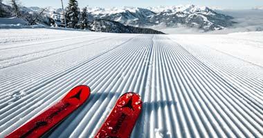 Perfekt präparierte Piste im Snow Space Salzburg