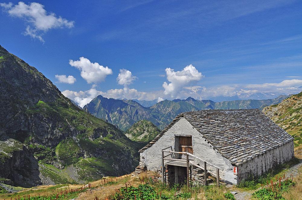 Alte Alm Scaredi im Nationalpark Val Grande