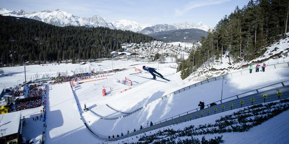 Skispringer in der Olympiaregion Seefeld