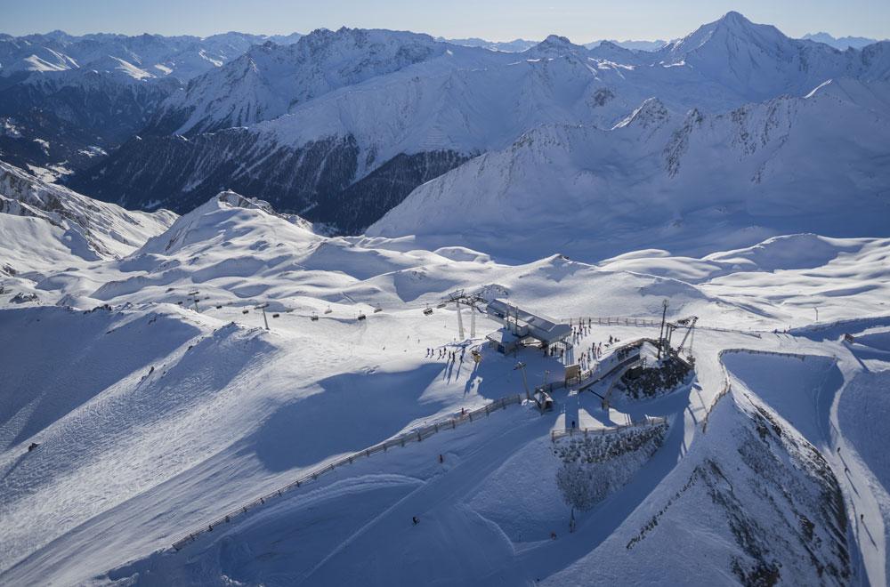 Blick über das Skigebiet Ischgl © TVB Paznaun - Ischgl