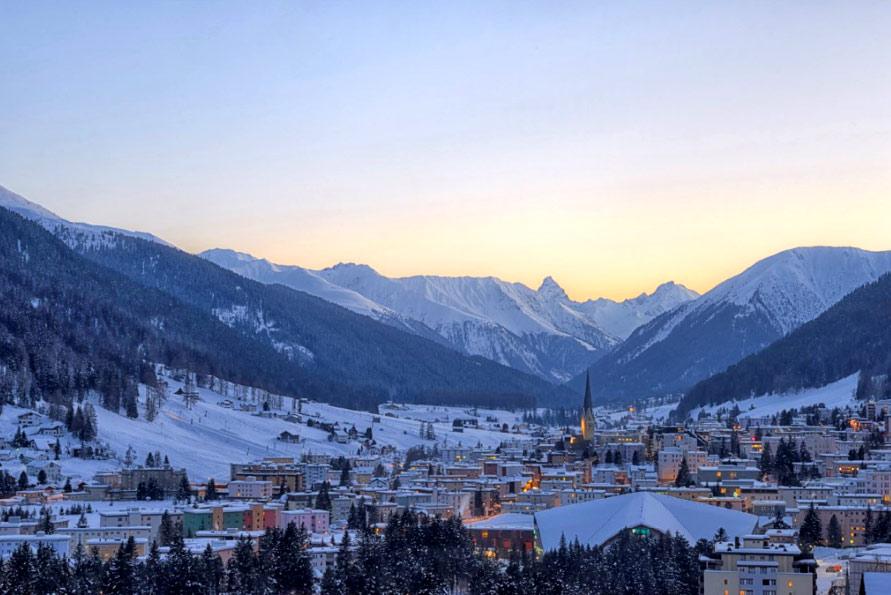 Blick auf Davos Klosters