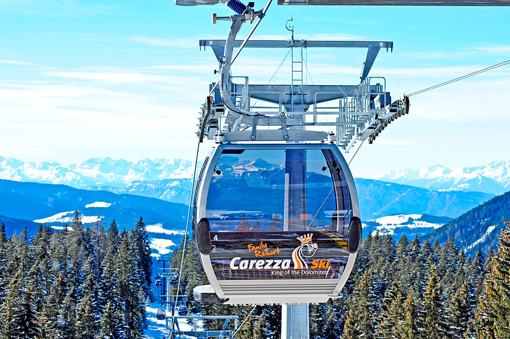 10er-Kabinenbahn Laurin 1 im Skigebiet Carezza Ski