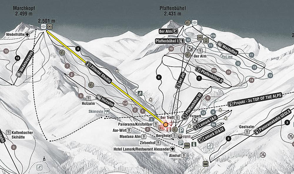 Zillertal Shuttle im Skigebiet Hochfügen