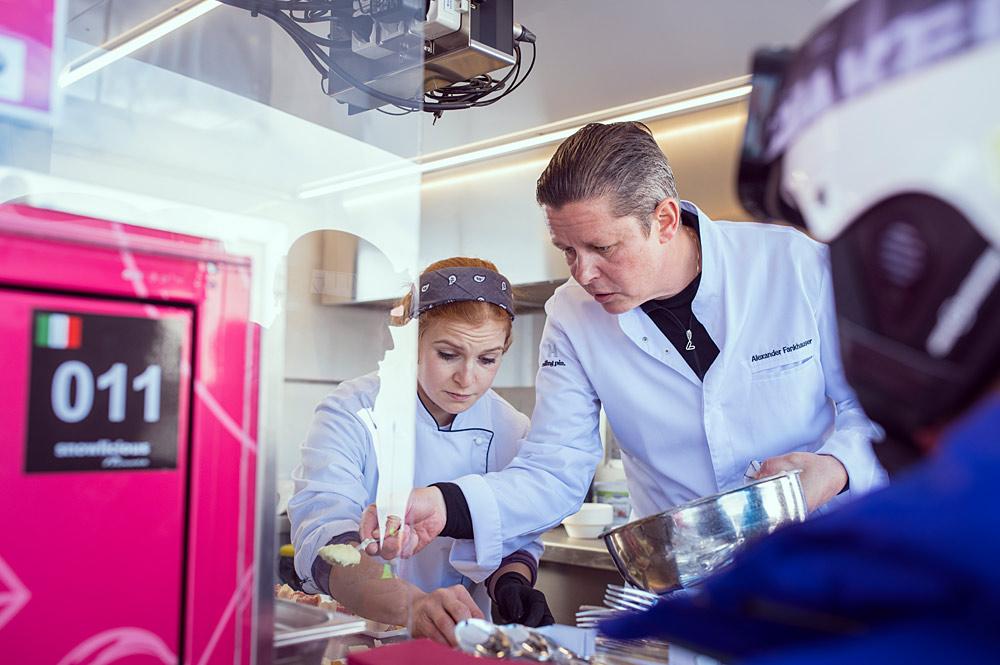 Spitzenkoch Alexander Fankhauser beim Kulinarikevent Snowlicious