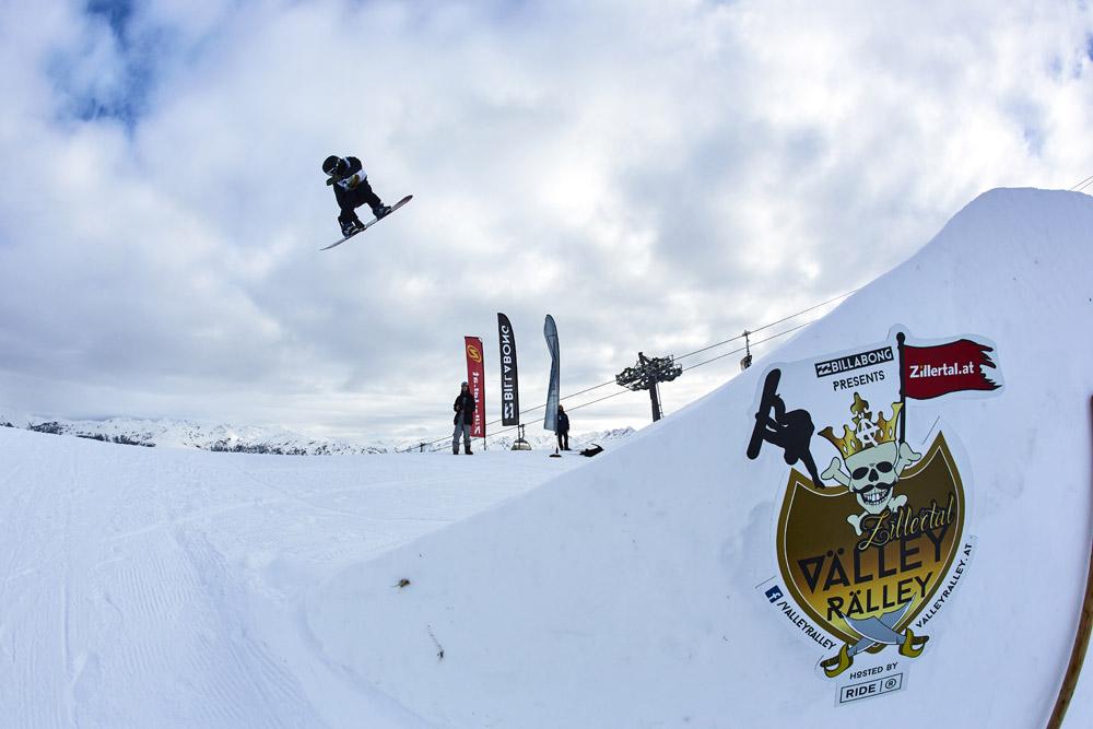 Snowboarder bei der Välley Rälley