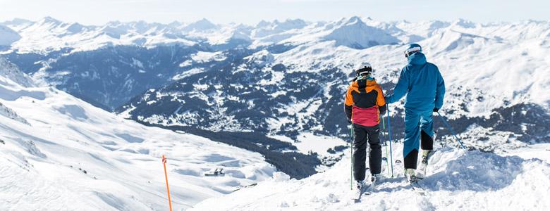 Skifahrer in Arosa Lenzerheide
