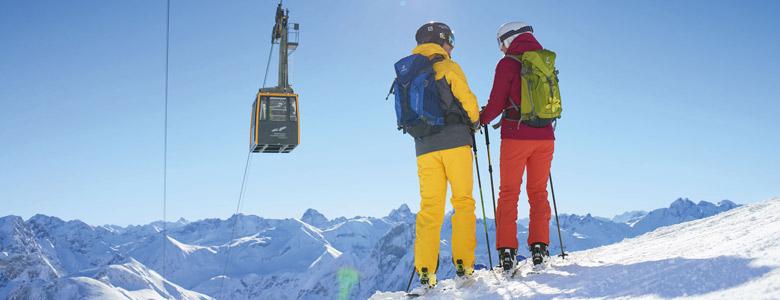 Skifahrer in Oberstdorf-Kleinwalsertal