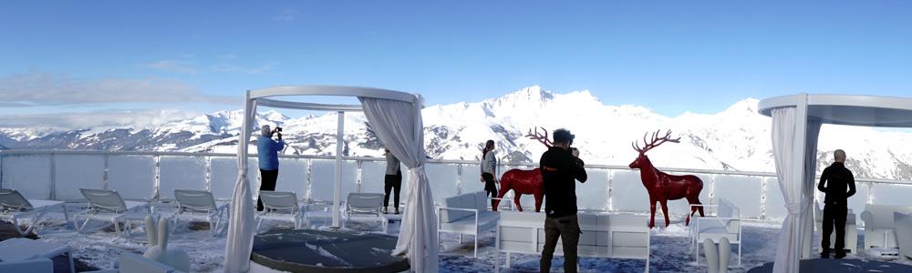 Terrasse des Luxus Bereich - Le Belvédère mit Jacuzzi