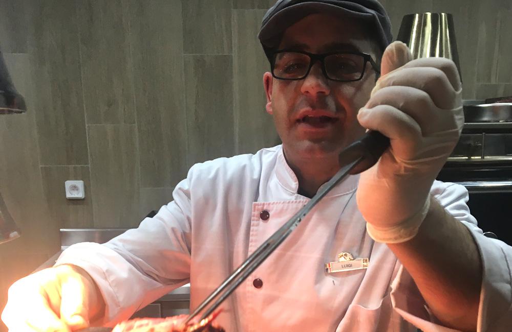 Ausgewählte Zutaten im Hauptrestaurant des Club Med Les Arcs Panorama Resort