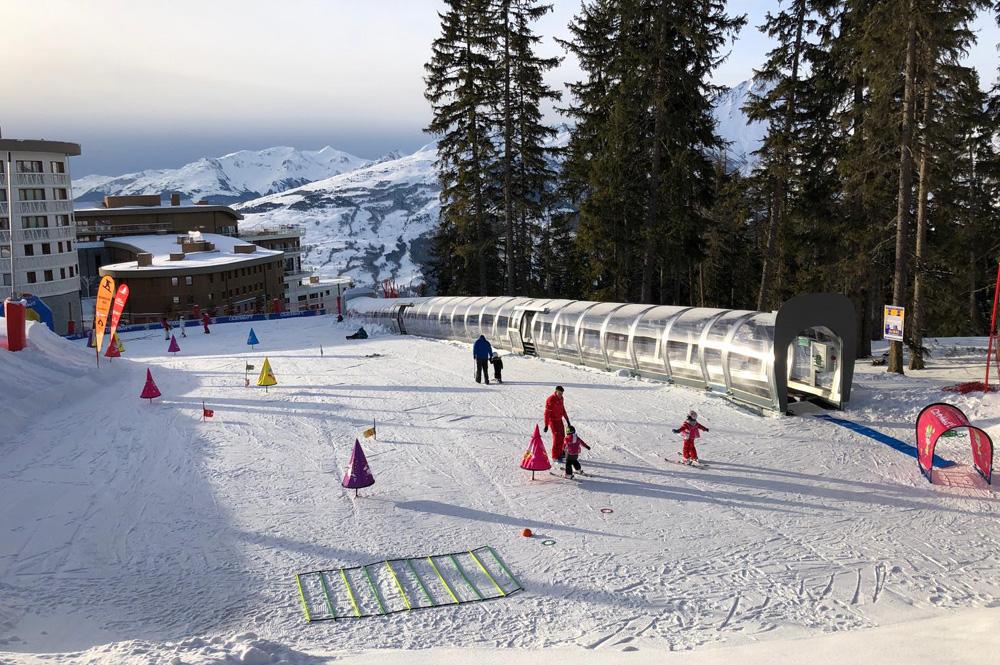Übungsgelände des Skikindergarten Club Med Les Arcs Panorama Resort