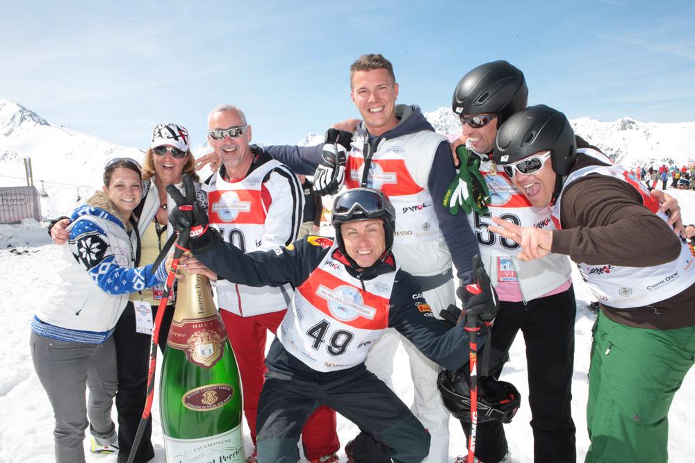 Teilnehmer bei der Ski-WM der Gastronomie in Ischgl