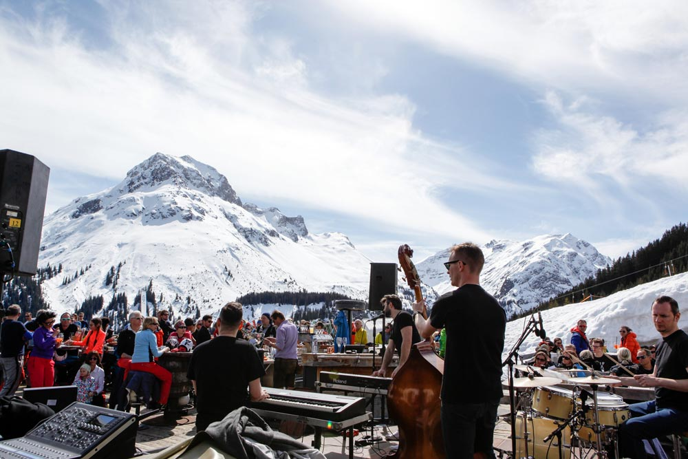 Beim Tanzcafé Arlberg Musicfestival