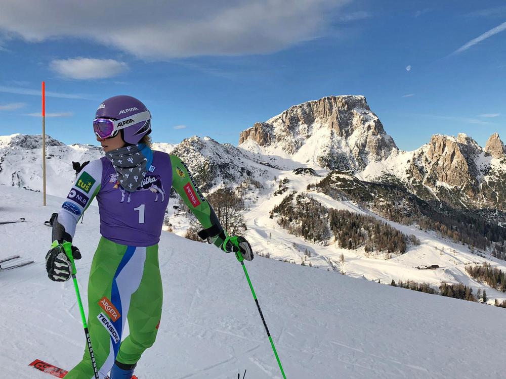 Ilka Stuhec aus Slowenien beim Training am Nassfeld