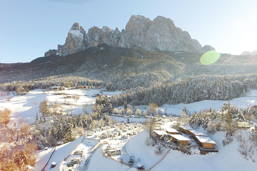 Wintercamping auf der Seiser Alm