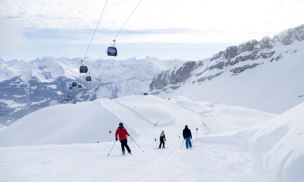 Abfahrt im Skigebiet Ifen