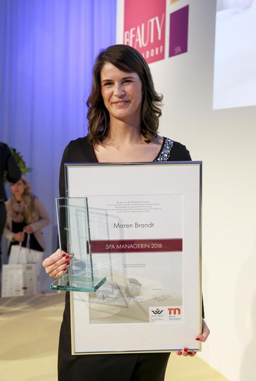 Maren Brandt, Spa-Mangerin des Jahres 2018