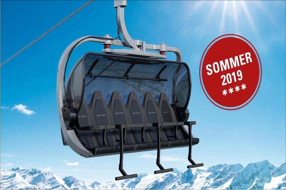 Visualisierter 6er-Sessel der neuen Sesselbahn im Skigebiet Arosa Lenzerheide