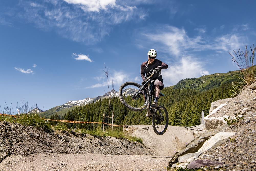 Biker in St. Anton am Arlberg