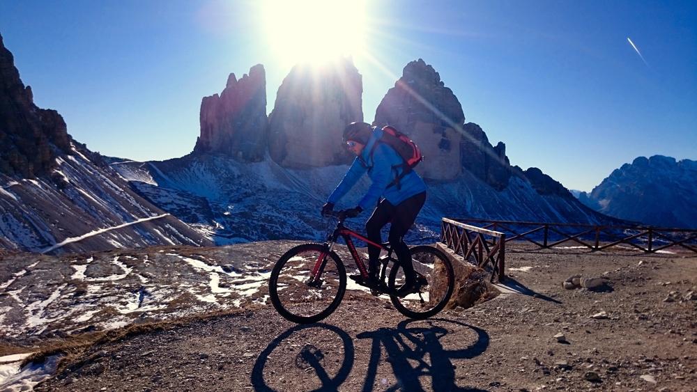 Biker im Südtiroler Pustertal