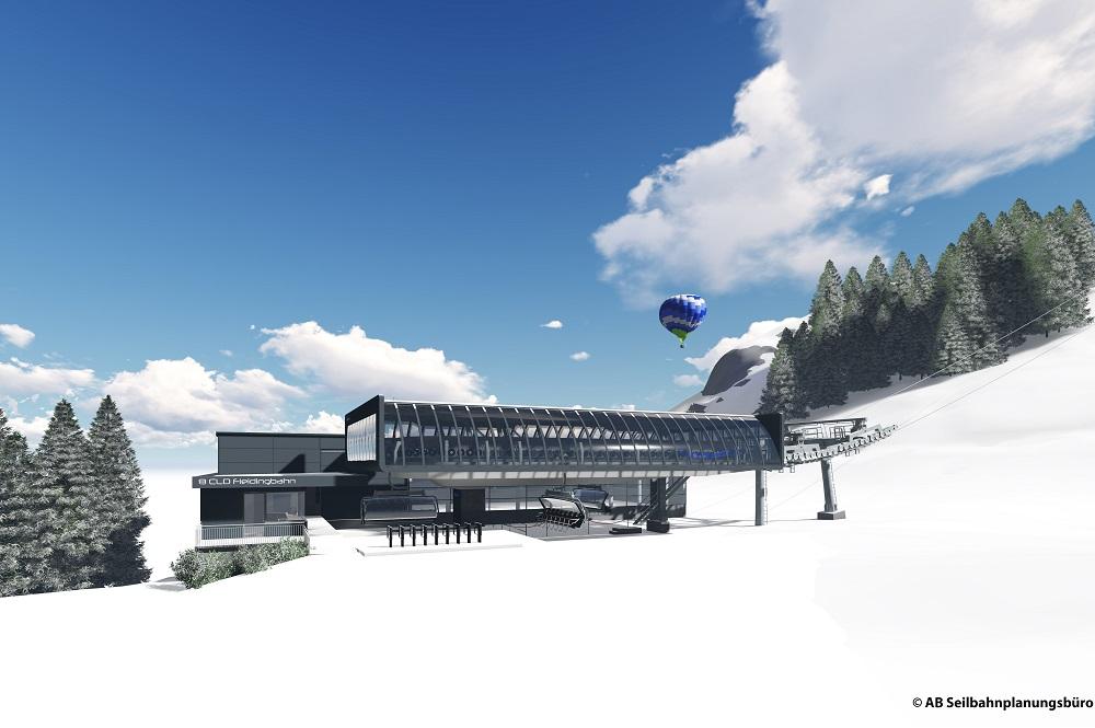 Visualisierte Talstation der neuen Fleidingbahn in Westendorf