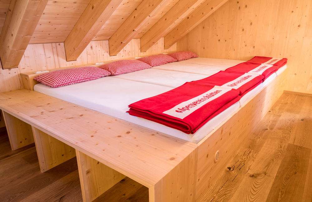 Bettenlager in der Alpenrosenhütte