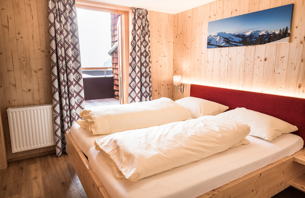 Doppelzimmer in der Berghütte