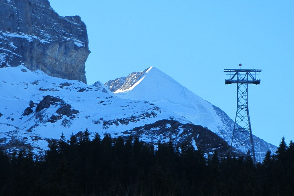 Fertige Stütze des Eigerexpress' in der Jungfrau Region