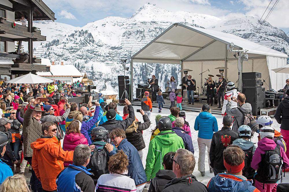 Band beim Oberlecher Frühlingsfest