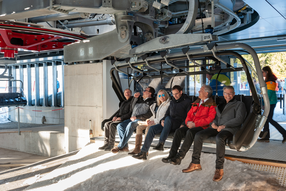 Eröffnungsfahrt der Sesselbahn Oberdamüls
