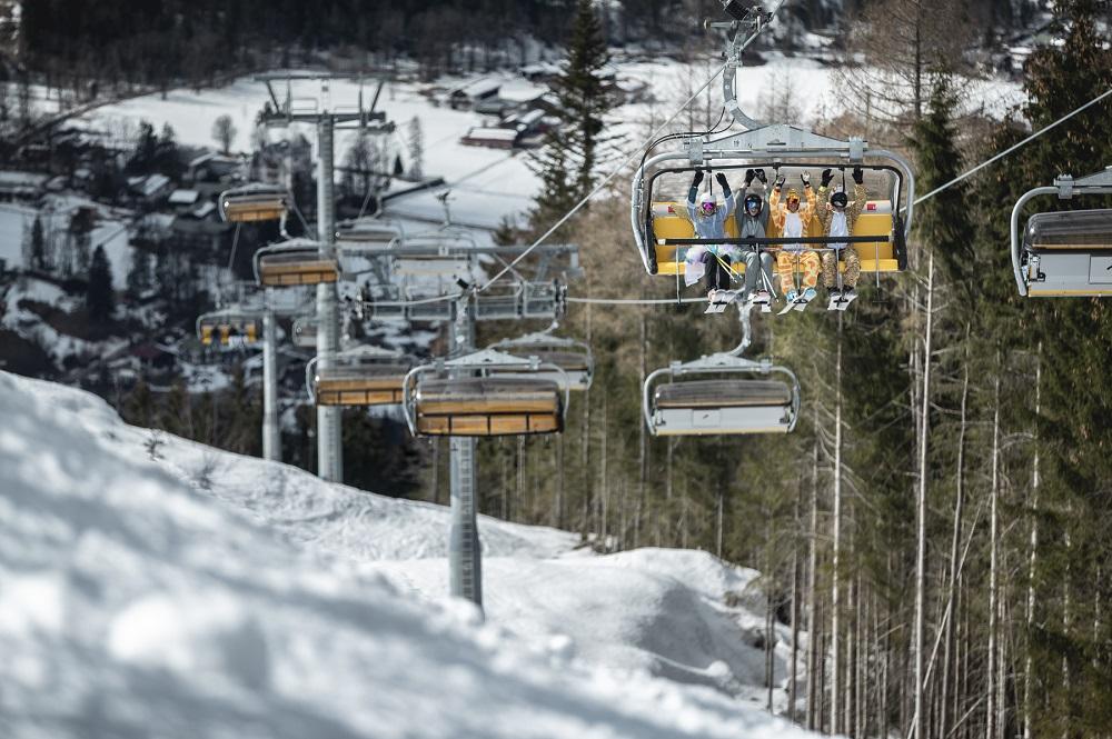 Neue 6er-Sesselbahn Jennerwiesen im Skigebiet Jenner-Königssee