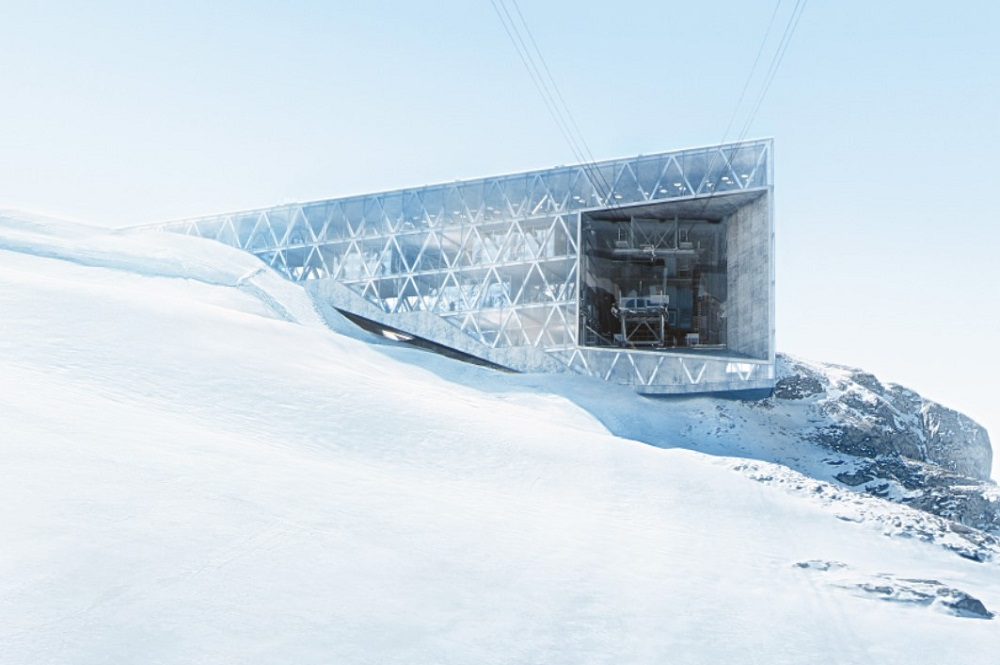 Visualisierung der Bergstation von der Großkabinenbahn im Skigebiet Titlis Engelberg