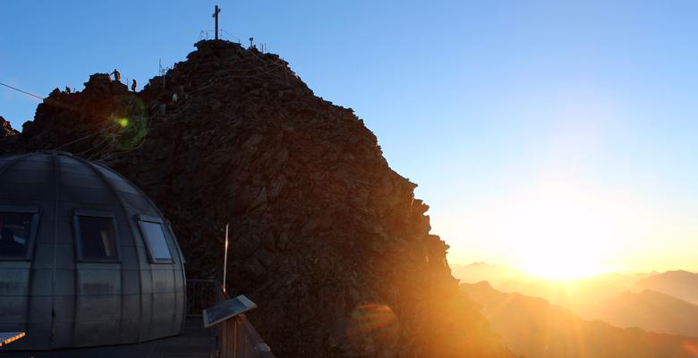 Sonnenaufgang auf dem Mont Fort