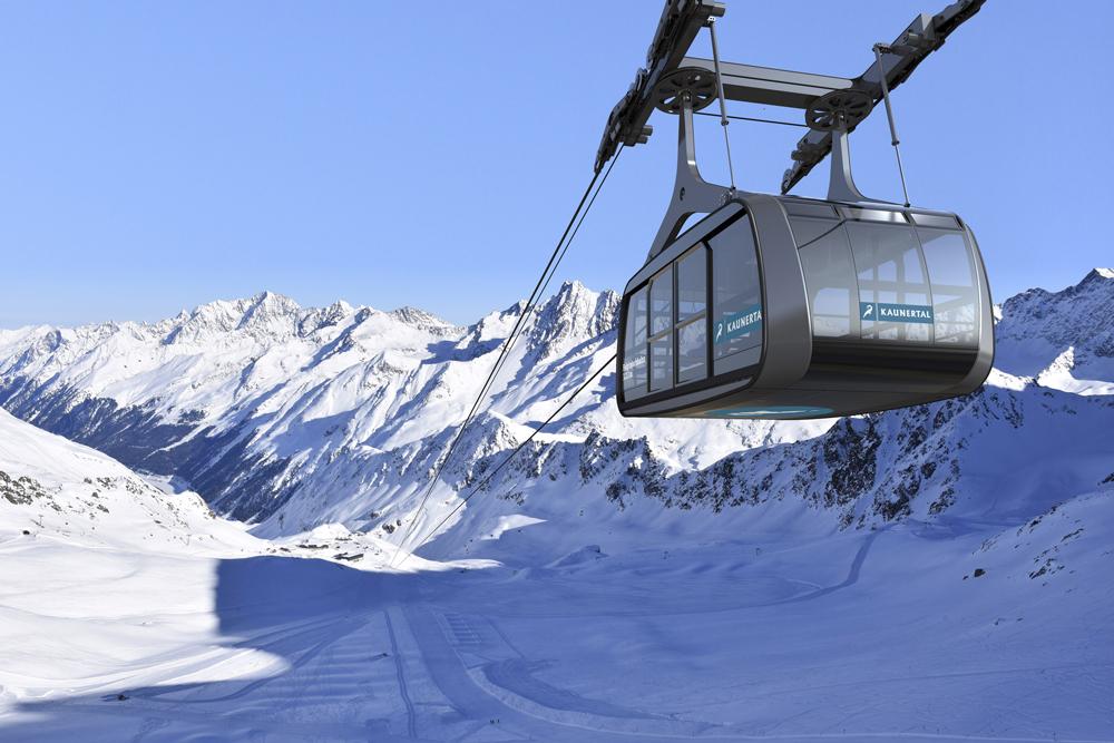 Neue Falginjochbahn am Kaunertaler Gletscher
