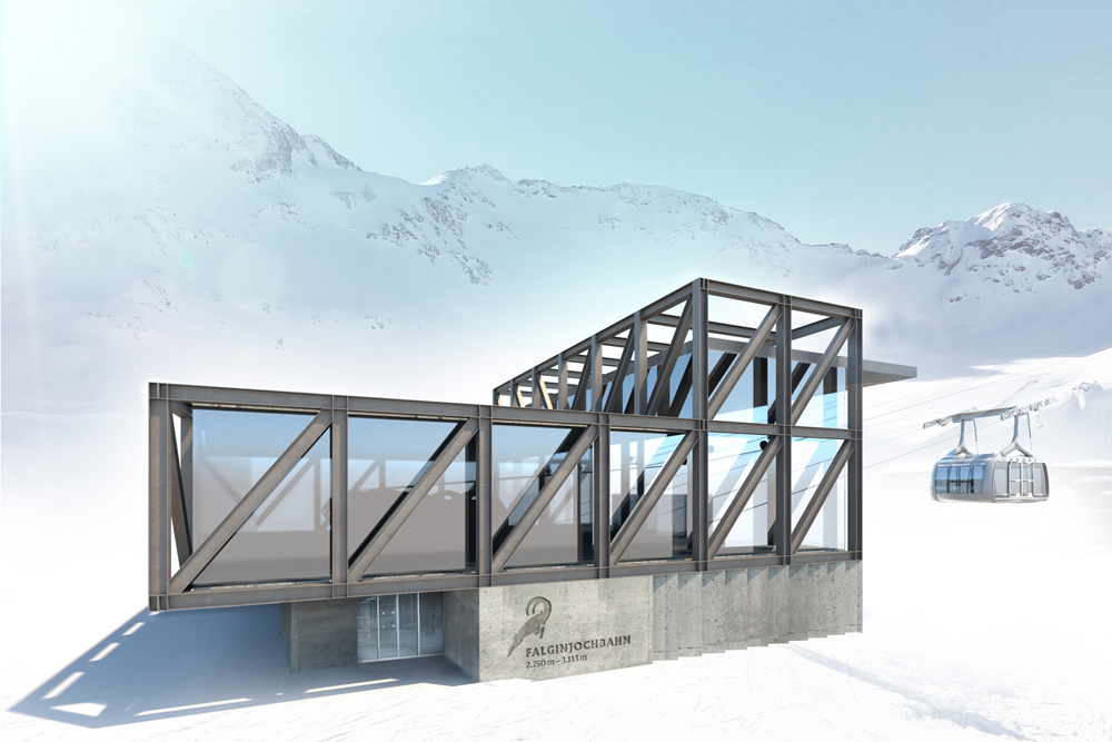 Neue Talstation der Falginjochbahn