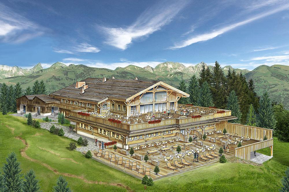 Planskizze des neuen Bergrestaurants am Eggli