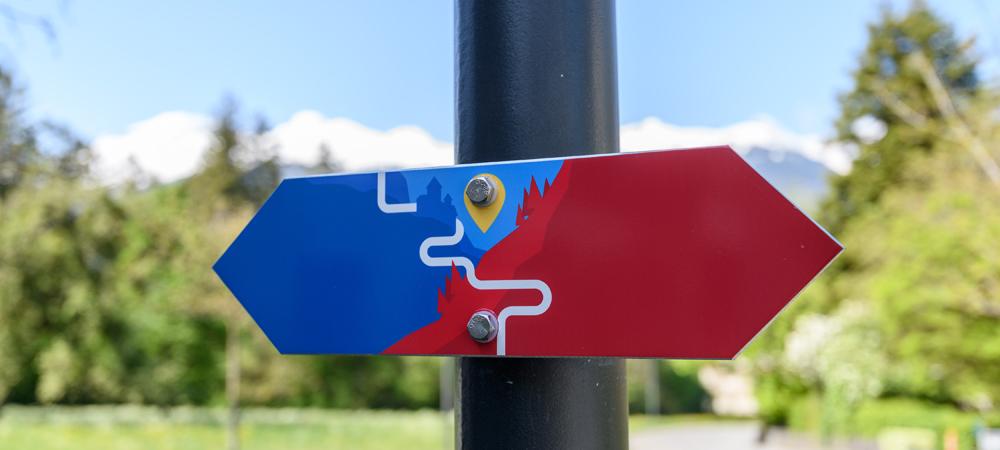 Wegweiser des Liechtenstein-Wegs