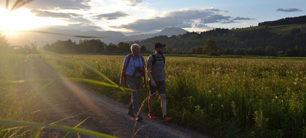Wanderer auf dem Liechtenstein-Weg