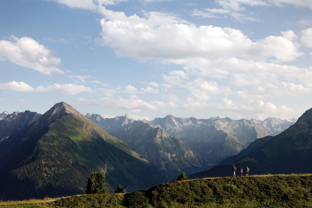 Besucher auf dem Actionberg Penken in Mayrhofen