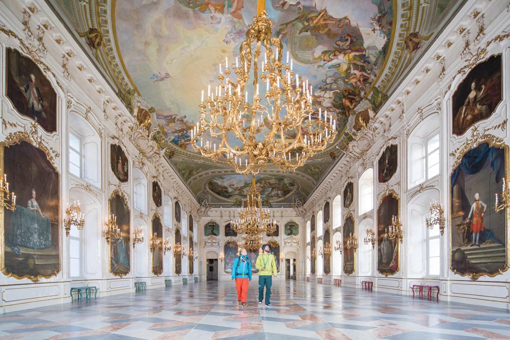 Besucher in der Kaiserlichen Hofburg