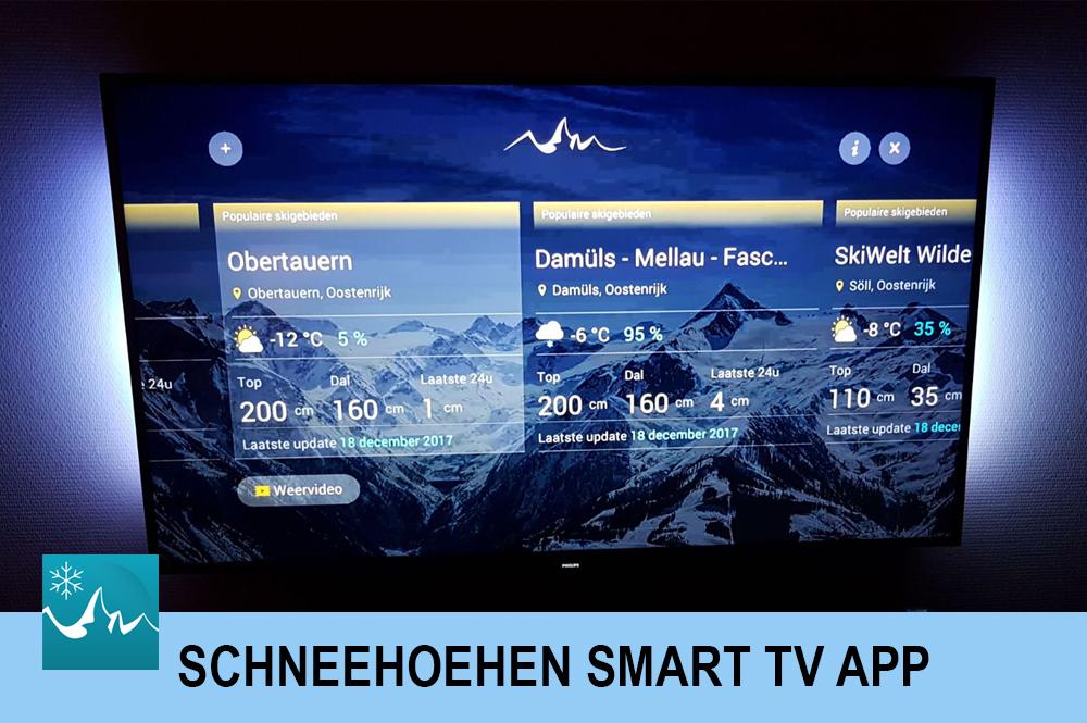 Ein Screenshot der Schneehoehen Smart TV APP