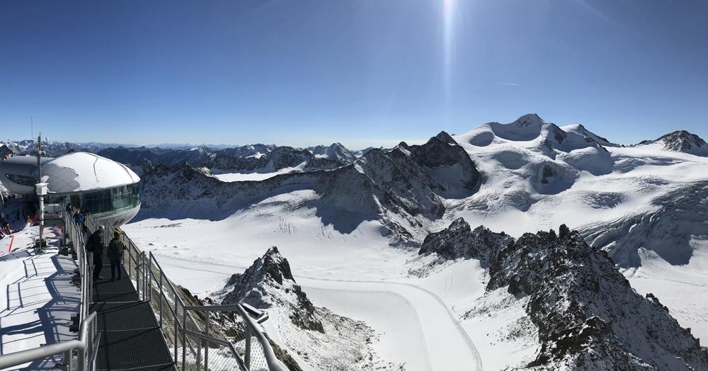 Aussicht vom Pitztaler Gletscher