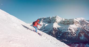 Skifahrer im Wallis