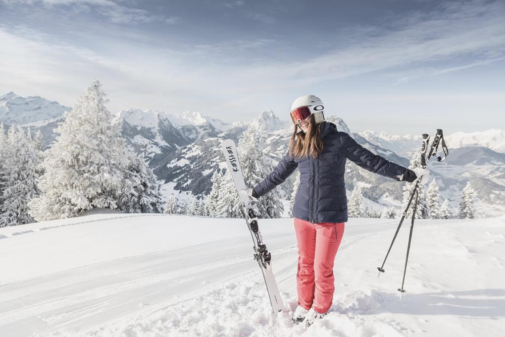 Skifahrerin in Gstaad