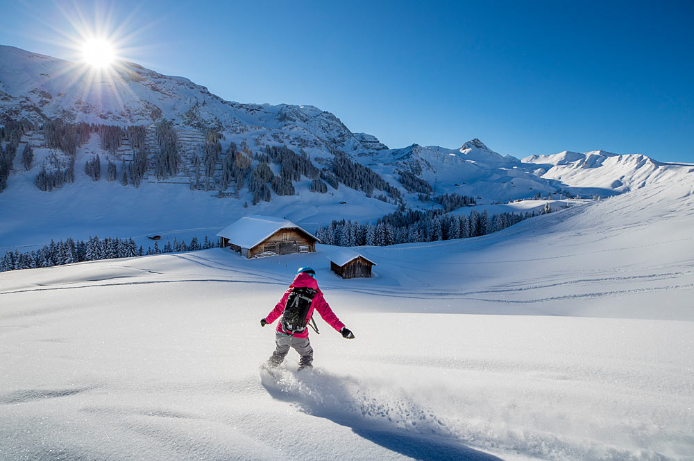 Snowboarder in Adelboden-Lenk