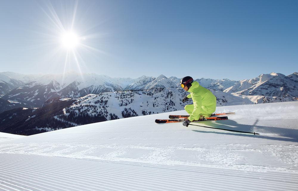 Skifahrer im Zillertal