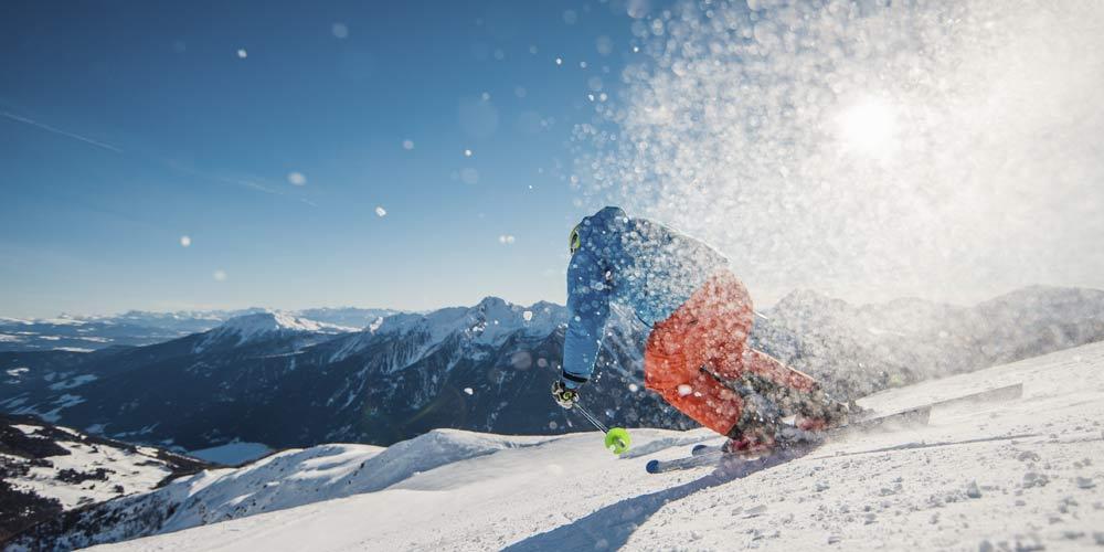 Skifahrer auf der Schwemmalm