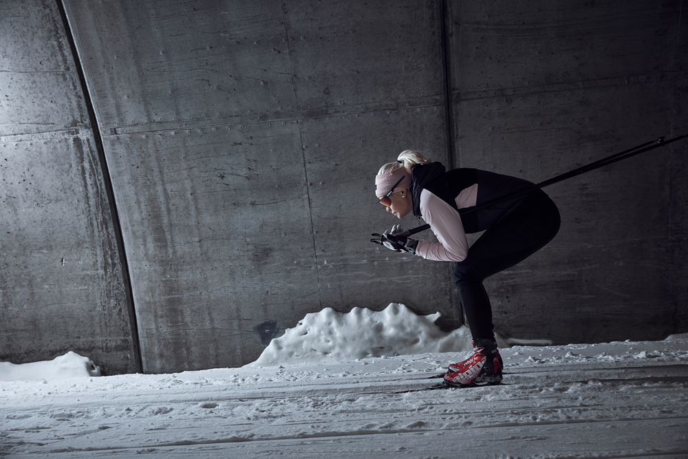 Langläuferin beim Thermal Jacket von Craft