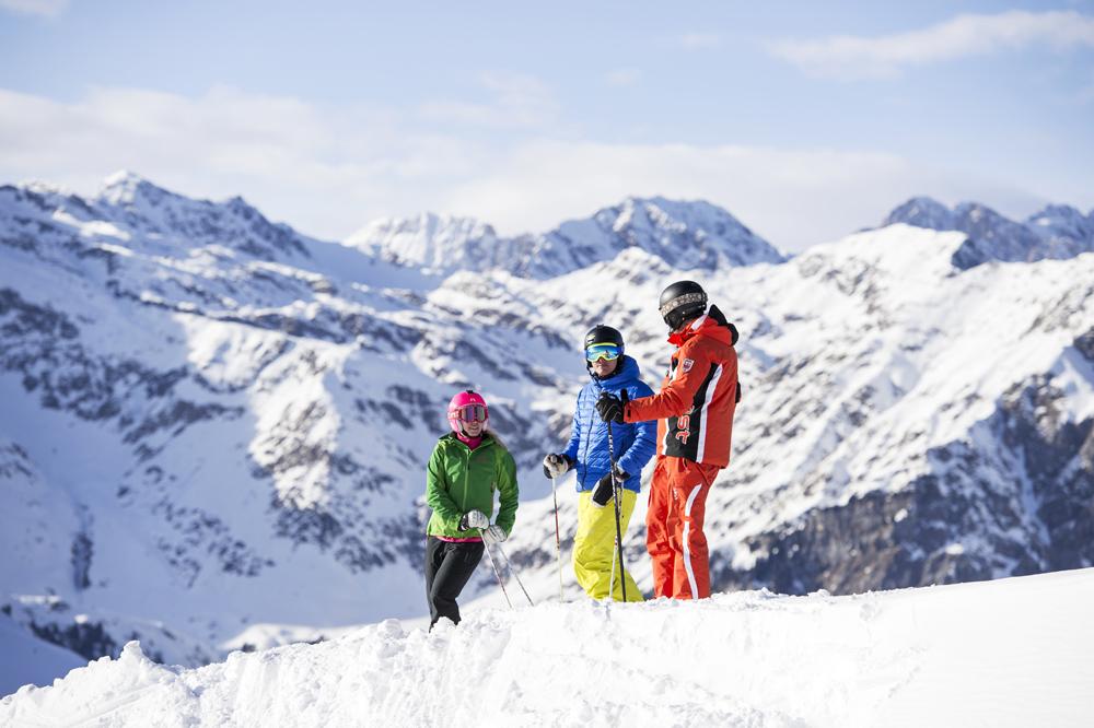 Skifahrer in Ratschings-Jaufen